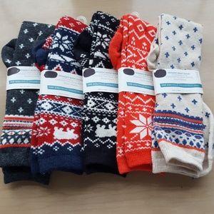 Old Navy Wool Blend Boot Socks, Bundle of 5
